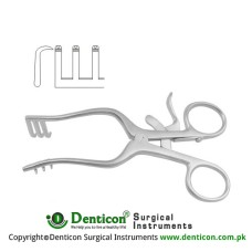 Weitlaner-Wullstein Self Retaining Retractor 3 x 3 Sharp Prongs Stainless Steel, 13 cm - 5""