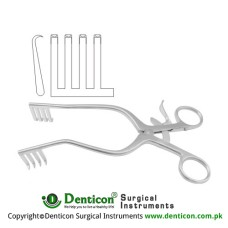 Anderson-Adson Self Retaining Retractor 4 x 4 Blunt Prongs Stainless Steel, 20 cm - 8""