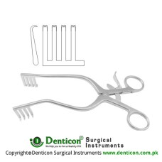 Anderson-Adson Self Retaining Retractor 4 x 4 Sharp Prongs Stainless Steel, 20 cm - 8""