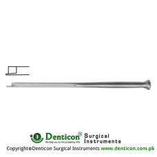 "Fomon Chisel Stainless Steel, 16 cm - 6 1/4"" Blade Width 7.0 mm"