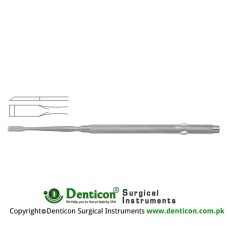 "Freer Septum Chisel Curved Stainless Steel, 16 cm - 6 1/4"" Blade Width 4.0 mm"