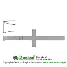 "Cottle Osteotome Cross Handle Stainless Steel, 18.5 cm - 7 1/4"" Blade Width 16.0 mm"