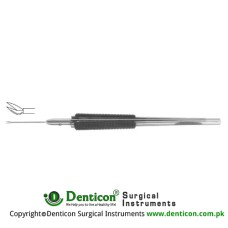 Virectomy Scissor Angled 30° - Horizontal Opening Stainless Steel,