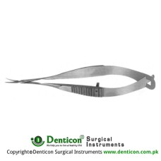 Gills-Vannas Capsulotomy Scissor Curved - Sharp Tips Stainless Steel, 8 cm - 3 1/4 Blade Size 7 mm