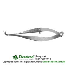Vannas Capsulotomy Scissor Angled to Side - Sharp Tips Stainless Steel, 8 cm - 3 1/4 Blade Size 5 mm
