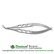 Katzin Corneal Transplant Scissor Left - Strongly Curved - Medium Blades - With Lock Stainless Steel, 11 cm - 4 1/2""