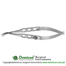 Troutman-Castroviejo Corneoscleral Scissor Left - Small Blades - With Lock Stainless Steel, 10.5 cm - 4""