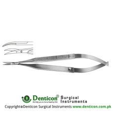 Micro Scissor Curved Stainless Steel, 12 cm - 4 3/4""