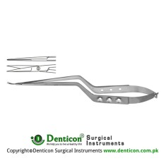 Micro Scissor Straight - Bayonet Shaped Stainless Steel, 19 cm - 7 1/2""