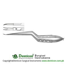 Micro Scissor Curved - Bayonet Shaped Stainless Steel, 18.5 cm - 7 1/4""