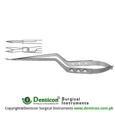Micro Scissor Straight - Bayonet Shaped Stainless Steel, 18.5 cm - 7 1/4""