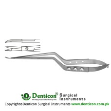 Micro Scissor Curved - Bayonet Shaped Stainless Steel, 23 cm - 9""