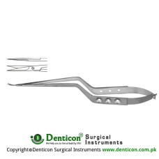 Jacobson Micro Scissor Straight - Bayonet Shaped Stainless Steel, 23 cm - 9""