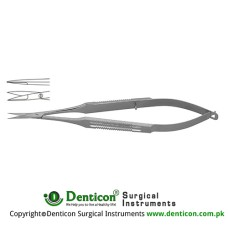 "Micro Scissor Straight - Flat Handle Stainless Steel, 18 cm - 7"" Blade Size 10 mm"