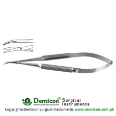 Micro Dissecting Scissor Curved - Blunt/Blunt Stainless Steel, 16.5 cm - 6 1/2""