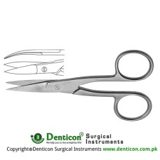 Nail Scissor Curved Stainless Steel, 10 cm - 4""
