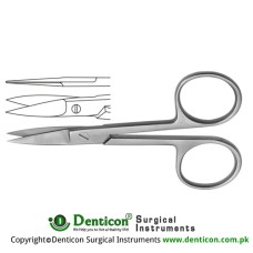 Nail Scissor Curved Stainless Steel, 10.5 cm - 4 1/8""