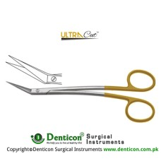 UltraCut™ TC Locklin Gum Scissor Angled - S Shaped - One Toothed Cutting Edge Stainless Steel, 16 cm - 6 1/4""