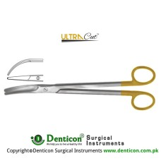 UltraCut™ TC Parametrium Hysterectomy Scissor Strongly Curved Stainless Steel, 22.5 cm - 8 3/4""