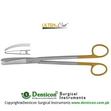 UltraCut™ TC Parametrium Hysterectomy Scissor Curved Stainless Steel, 23 cm - 9""