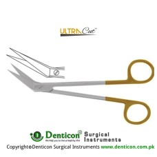 UltraCut™ TC Locklin Gum Scissor Angled - One Toothed Cutting Edge Stainless Steel, 16 cm - 6 1/4""