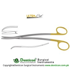 UltraCut™ TC Metzenbaum-Fine Dissecting Scissor - Slender Pattern Curved - S Shaped Stainless Steel, 18 cm - 7""