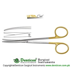 UltraCut™ TC Metzenbaum-Lahey Dissecting Scissor - Slender Pattern Curved Stainless Steel, 23 cm - 9""