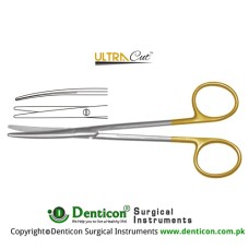 UltraCut™ TC Toennis-Adson Dissecting Scissor - Slender Pattern Curved Stainless Steel, 17.5 cm - 7""