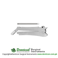 De Martel-Wolfson Intestinal Anastomosis Clamp Set of 3 Stainless Steel,