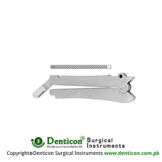 De Martel-Wolfson Intestinal Anastomosis Clamp Stainless Steel, Jaw Length 65 mm