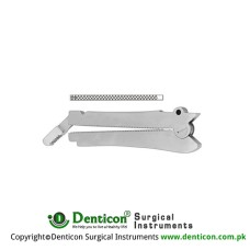De Martel-Wolfson Intestinal Anastomosis Clamp Stainless Steel, Jaw Length 80 mm