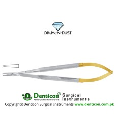Diam-n-Dust™ Micro Needle Holder Straight - Round Handle Stainless Steel, 16 cm - 6 1/4""