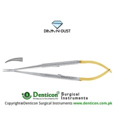 Diam-n-Dust™ Castroviejo Micro Needle Holder Curved - Delicate - With Lock Stainless Steel, 18 cm - 7""