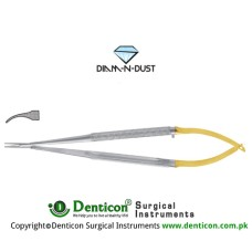 Diam-n-Dust™ Castroviejo Micro Needle Holder Curved - Very Delicate Stainless Steel, 14 cm - 5 1/2""