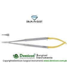 Diam-n-Dust™ Castroviejo Micro Needle Holder Straight - Very Delicate Stainless Steel, 14 cm - 5 1/2""