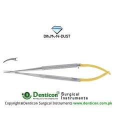 Diam-n-Dust™ Castroviejo Micro Needle Holder Curved - Extra Delicate Stainless Steel, 14 cm - 5 1/2""