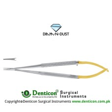 Diam-n-Dust™ Castroviejo Micro Needle Holder Straight - Extra Delicate Stainless Steel, 14 cm - 5 1/2""