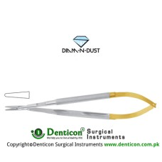 Diam-n-Dust™ Micro Needle Holder Straight - Heavy Pattern - Round Handle - With Lock Stainless Steel, 25 cm - 9 3/4""
