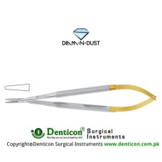 Diam-n-Dust™ Micro Needle Holder Straight - Heavy Pattern - Round Handle Stainless Steel, 25 cm - 9 3/4""