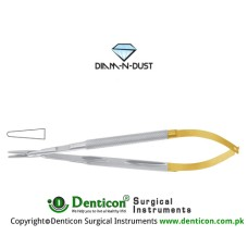 Diam-n-Dust™ Micro Needle Holder Straight - Heavy Pattern - Round Handle Stainless Steel, 23 cm - 9""