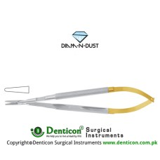 Diam-n-Dust™ Micro Needle Holder Straight - Heavy Pattern - Round Handle Stainless Steel, 19 cm - 7 1/2""