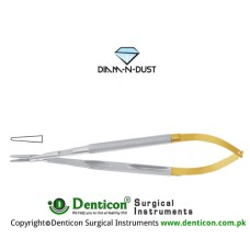 Diam-n-Dust™ Micro Needle Holder Straight - Round Handle - With Lock Stainless Steel, 23 cm - 9""