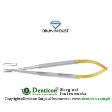 Diam-n-Dust™ Micro Needle Holder Straight - Round Handle - With Lock Stainless Steel, 18 cm - 7""
