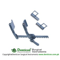Pediatric Sternal Retract With interchangeable Blade(2 pair)Arm length 52mm