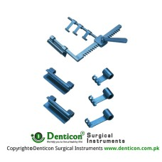 Sternal-IMA Retractor Arm Length 170mm Consists of: 20mm blades 25mm blades 28mm hooks 32mm hooks 38mm hooks