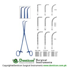 O shaughnessy Clamping Forceps Ring handle Right Angle 18.5cm,20cm,22cm,24cm,28cm Curved Size: 18.5cm,20cm,22cm,24cm,28cm Curved Size: 18.5cm,20cm,22cm,24cm,28cm