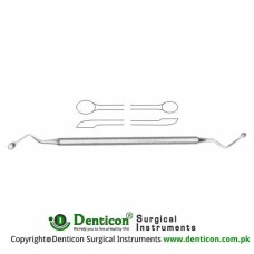 Hemingway Bone Curette Stainless Steel, 17 cm - 6 3/4""