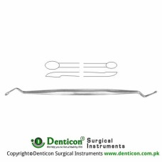 Bone Curette Stainless Steel, 16 cm - 6 1/4""