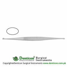 Williger Bone Curette Double Ended - Oval/Oval - Fig. 1/Fig. 2 Stainless Steel, 13.5 cm - 5 1/4""
