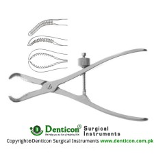 Repositioning Forcep With Tread Fixation Stainless Steel, 24 cm - 9 1/2""